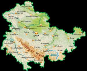 Tanzen-Urlaub-Thüringen-Karte